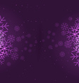 snowflakes background in purple vector image vector image