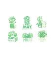 spring logo templates original design collection vector image vector image