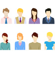Staff avatar icon set vector image vector image