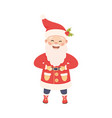 standing santa claus with white beard as new year vector image