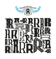 Stock set of monograms and initial letter R vector image