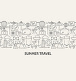 summer travel banner concept vector image