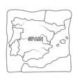 Territory of Spain icon in outline style isolated vector image