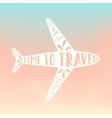 Time to travel Plane silhouette vector image vector image