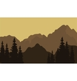 View of mountain silhouette vector image vector image