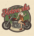 vintage colorful motorcycle repair service logo vector image vector image