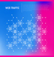 web traffic concept in honeycombs vector image vector image