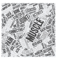 why muscles get sore text background wordcloud vector image vector image