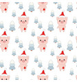 winter pattern with pigs vector image