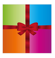 wrapped gift or gift card vector image vector image