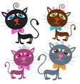 Cats Isolated on White vector image