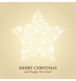 Christmas card - gold background with spark vector image