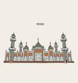 muslim mosque hand draw sketch vector image