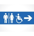 restroom vector image