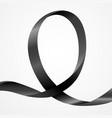 awareness black ribbon vector image