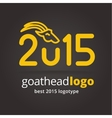 2015 goat logotype isolated on dark background vector image
