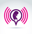 a baby embryo Chat on a pregnancy theme Pregna vector image