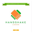 Abstract logo handshake flat style icon vector image