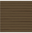 abstract wood plank in horizontal dark brown vector image