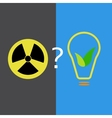 Atomic and eco-friendly energy sources vector image vector image