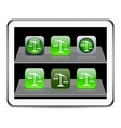 Balance green app icons vector image