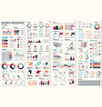 big set infographic elements vector image vector image