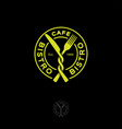 bistro restaurant cafe logo snack fork knife circl vector image