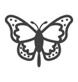 butterfly line icon easter and holiday vector image