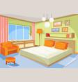Cartoon interior orange-blue