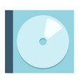 cd disc in plastic case icon flat isolated vector image vector image