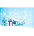 Christmas blue background with gift boxes and vector image vector image