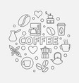 coffee round symbol made vector image