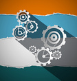 Cogs - Gears - Wheals on Torn Paper vector image vector image