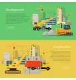 Construction Development Banner Building Process vector image vector image