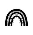 cute black rainbow shape barainbow logo vector image vector image