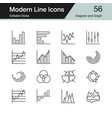 diagram and graph icons modern line design set 56 vector image vector image