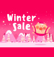 discount poster winter sale banner vector image vector image