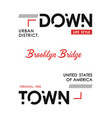 downtown new york sport typography design vector image vector image