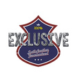 exclusive quality badge vector image vector image