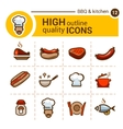 food color icons set vector image
