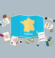 france economy country growth nation team discuss vector image vector image
