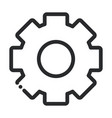 gear cogwheel laboratory science and research line vector image