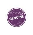 genuine stamp texture rubber cliche imprint web vector image vector image