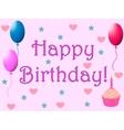 Happy birthday 1 vector image vector image