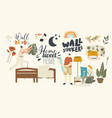 home decor concept male and female characters vector image vector image