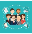 Human resources design People icon Colorful vector image