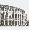 image of the roman colosseum vector image vector image