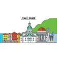 italy como city skyline architecture buildings vector image vector image