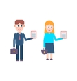 Job candidates people vector image