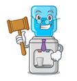 judge modern water cooler isolated on mascot vector image vector image